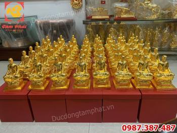 Đúc 100 pho Tượng Phật Hoàng Trần Nhân Tông cho chùa Yên Tử Quảng Ninh cao 25cm.!