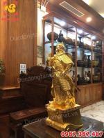 Tượng Đức Thánh Trần- Tượng Trần Hưng Đạo cao 70cm nặng 30kg dát vàng