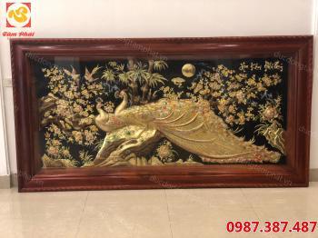 Tranh Đồng, Tranh Hoa Khai Phú Qúy Đẹp Nhất 2m3