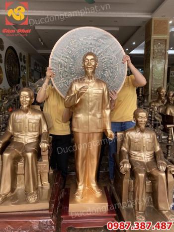 Tượng Bác Hồ vẫy tay chào cao 1m2 - tượng Bác Hồ bằng đồng mọi kích thước.!