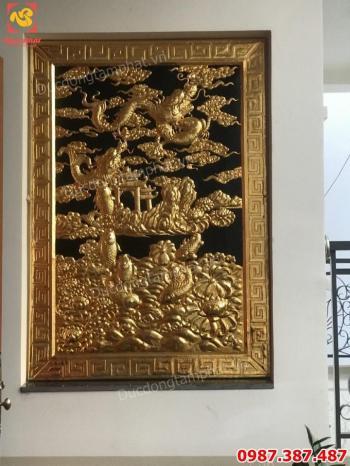 Lắp đặt tranh Cá Chép Hóa Rồng bằng đồng mạ vàng cho khách Sài Gòn.!