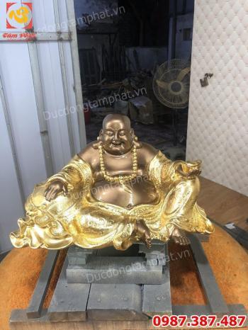 Tượng Phật Di Lặc bằng đồng dát vàng 9999 giá xưởng.!