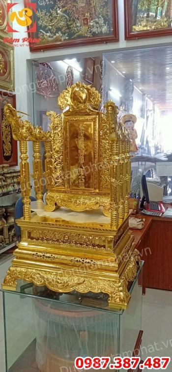 Ngai Thờ bằng đồng cao 89cm, đúc ngai thờ - bài vị mạ vàng theo yêu cầu.!