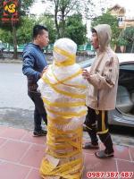 Tượng Phật Adida đứng cao 1m55 hoàn thiện cho chùa Hà Nam