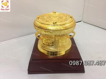 Trống đồng mạ vàng, quả trống đồng mạ vàng 24k