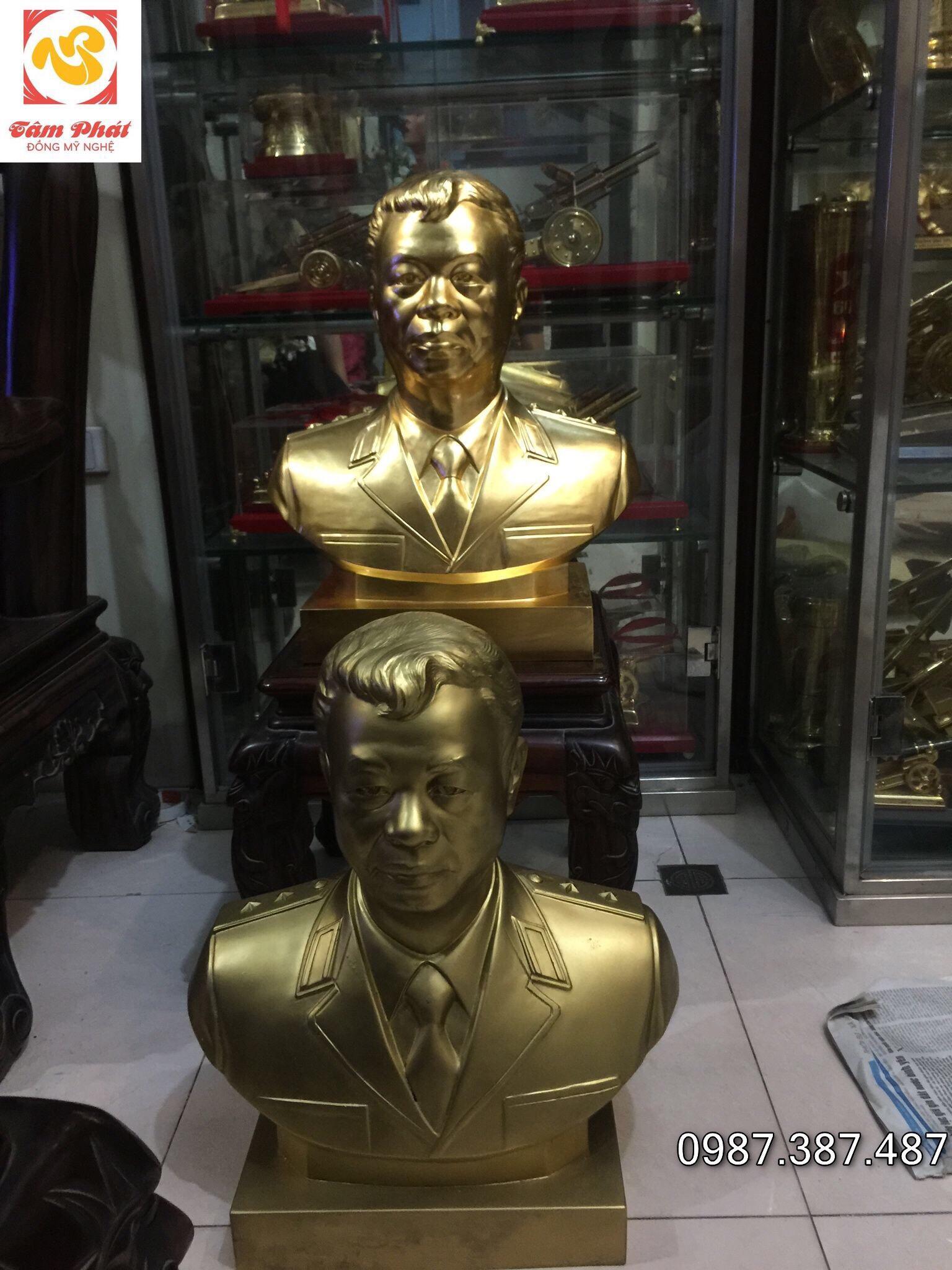 Tượng truyền thần cao 60cm thếp vàng 9999, Tượng đồng Tâm Phát