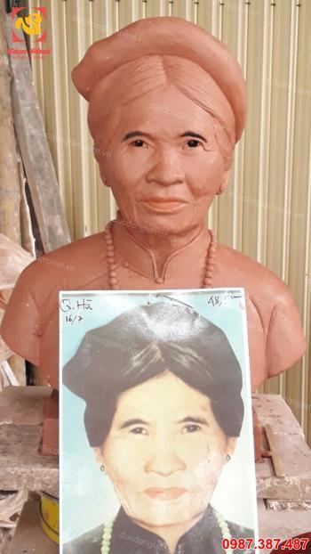 Tượng chân dung, tượng đồng chân dung cao 42cm